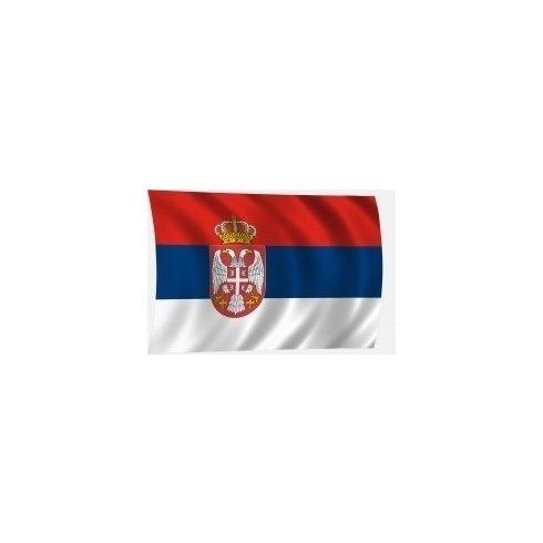 Lobogó szerb 45 x 30 cm