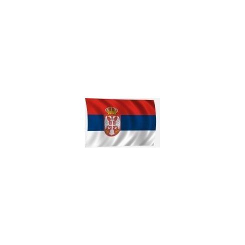 Lobogó szerb 60 x 40 cm