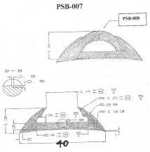 Gumiprofil TPE PSB007 fehér