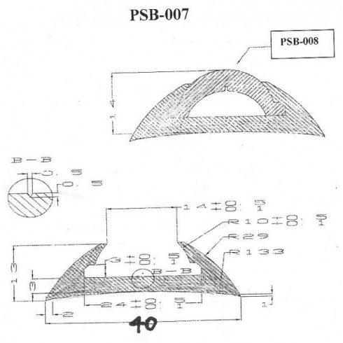 Gumiprofil TPE PSB007 fehér SOL