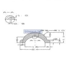 Gumiprofil TPE PSB008 fekete, szürke,vkék,skék