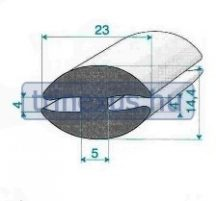 Gumiprofil EPDM H profil