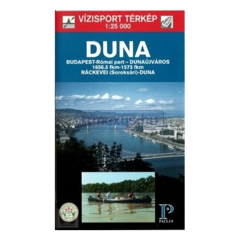 Könyv, Duna Budapest-Dunaújváros turistatérkép