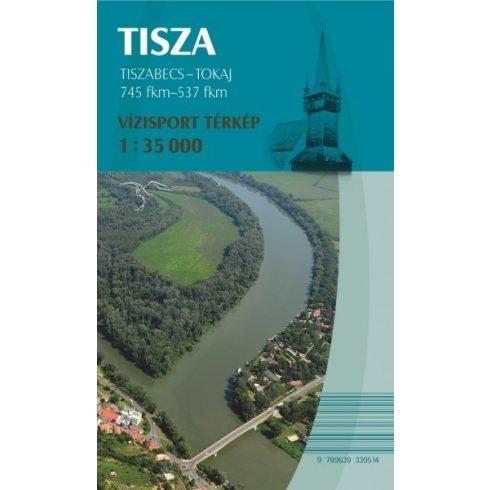 Könyv, Térkép Tisza Tiszabecs -Tokaj