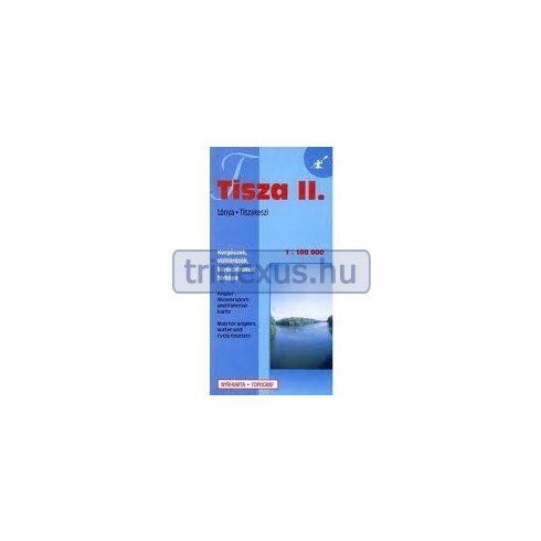 Könyv, Térkép Tisza 2. Lónya-Tiszakeszi