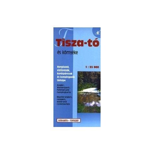 Könyv, Térkép Tisza-tó vízitúra térkép