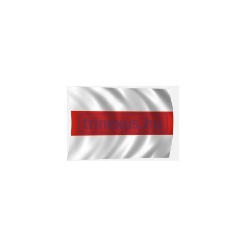 Lobogó fehér-piros-fehér 100 x 60 cm