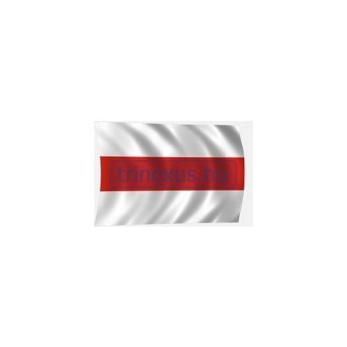 Lobogó fehér-piros-fehér 60 x 40 cm