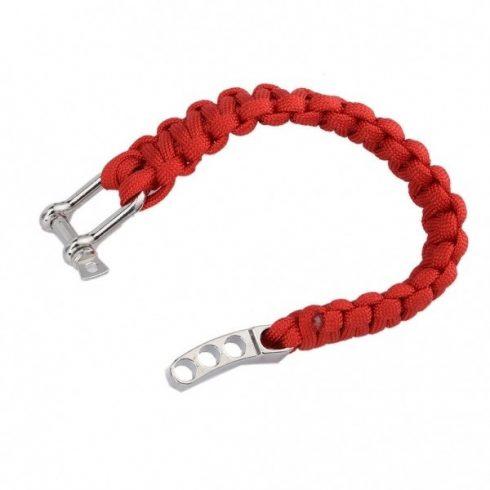 Karkötő seklivel állítható fonott piros BAY