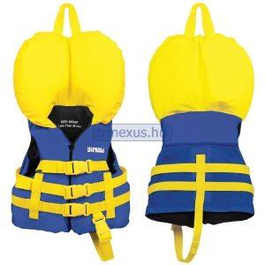 Mentőmellény gyerek Airhead kék-sárga gallérral 0-13 kg