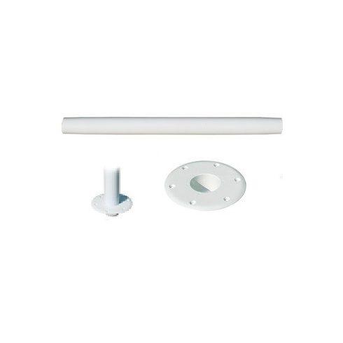 Asztalláb rögzítővel fehér alu 700 mm GFN