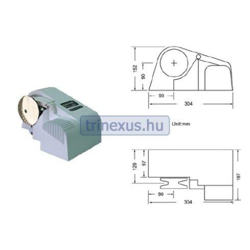 Elektromos horgonycsörlő vízszintes 600 W EVA