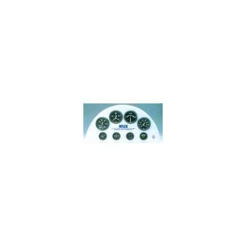Sebességmérő 0-30 csomó fekete GMR
