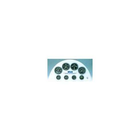 Sebességmérő 0-50 csomó fekete GMR