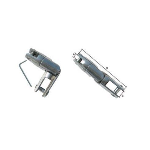 Horgonylánc-csatlakozó dönthető inox 6-8 mm GFN