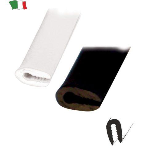 Gumiprofil U alakú fekete 3-5 mm GFN