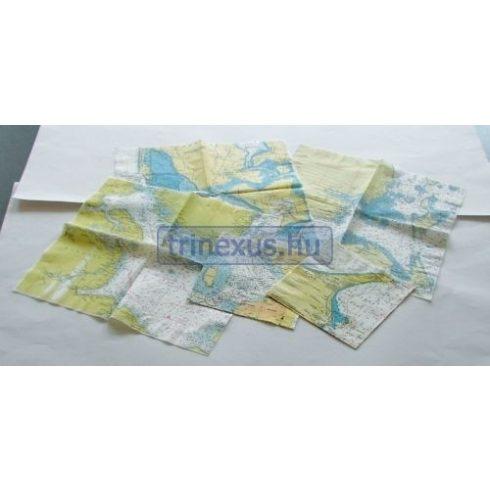 Szalvéta térképmintával 20 db/csomag 330 x 330 mm YMA