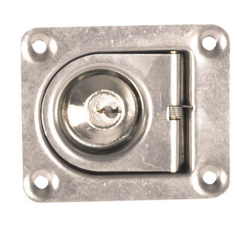 Fedélnyitó retesz kulccsal inox 55x65 mm EVA