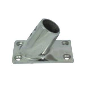 Korláttalp négyszög döntött inox 25 mm EVA