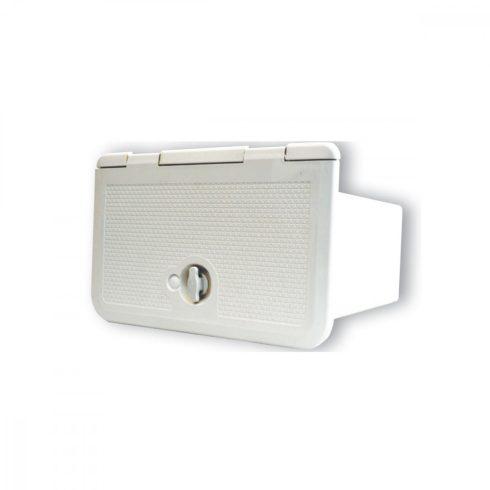 Tárolórekesz HIFI-hez fehér ABS 285x180x250 EVA