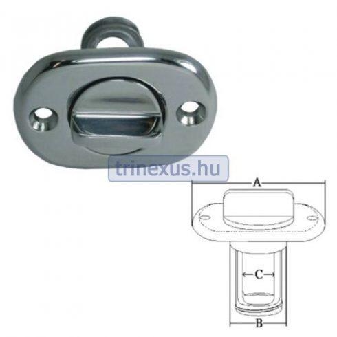 Vízkivezető dugó acél ovál réz 64 mm EVA