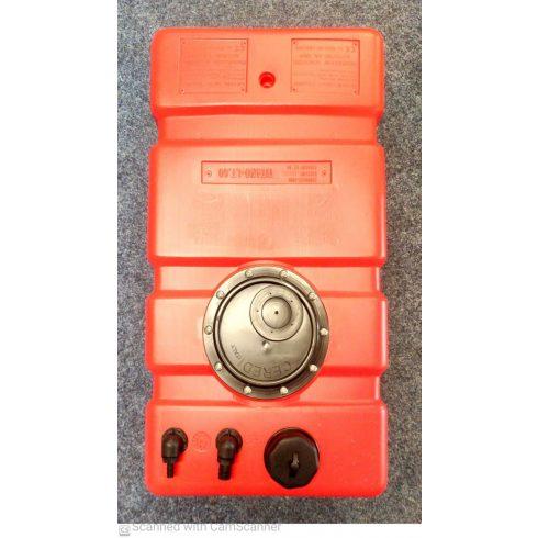 Üzemanyag tank beépíthető 100 l 105x35x30+5 cm GFN