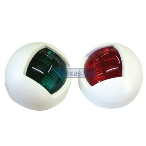Fény LED oldal zöld és piros párban, fehér műag EVA