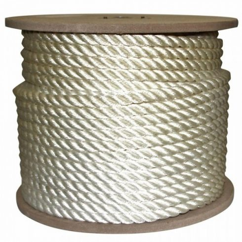 Kötél sodrott PE 12 mm fehér CH