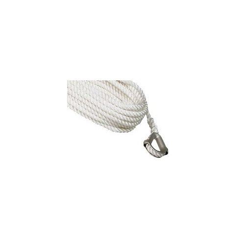 Kikötő kötél PE acél kötélszívvel 35 m fehér CH