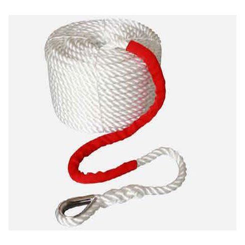 Kikötő kötél PE sodrott kötélszív 40 m fehér CH