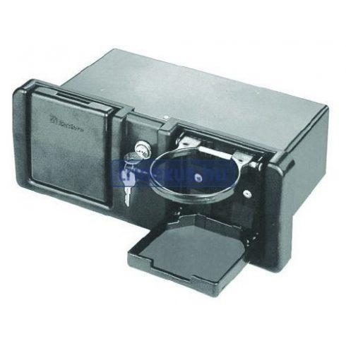 Tárolórekesz pohártartóval zárható 300x100x189 mm EVA