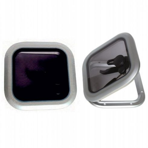 Fedélzeti ablak négyzet 26,5 cm alu EVA