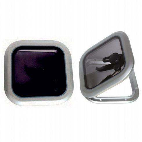 Fedélzeti ablak négyzet 31,5 cm alu EVA