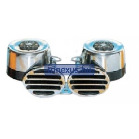 Kürt elektromos dupla kerek inox 112dB EVA