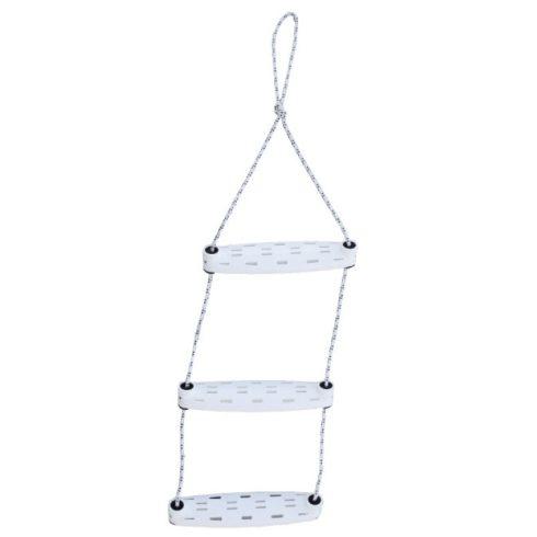 Kötéllétra fehér 3 fokos műag új típus EVA