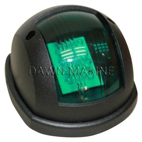 Fény LED zöld 112,5° függ. fekete házban DAW