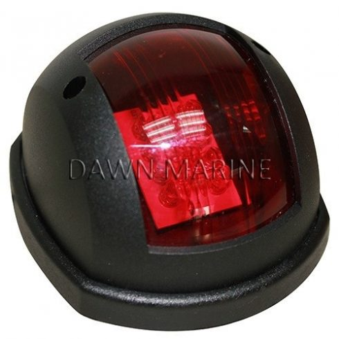 Fény LED piros 112,5° függ. fekete házban DAW