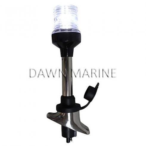 Körfény LED fehér kivehető inox 23 cm DAW