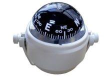 Kompasz kengyelben fehér Optronics 86 mm