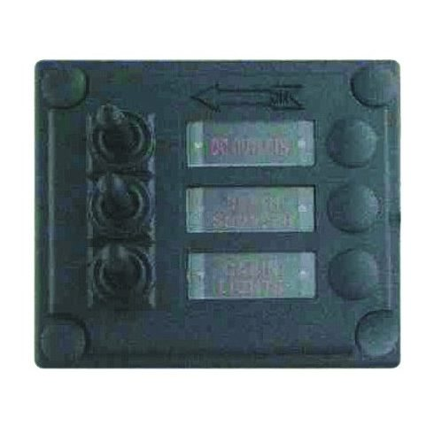 Kapcsolótábla LED 3 egységes biztosítékkal DAW