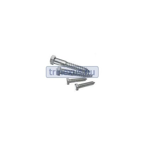 Csavar 4 db hatszögletű félmenet inox 8 x 60 mm bi