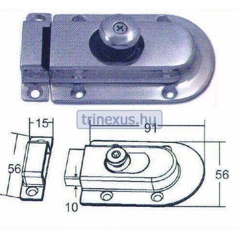 Tolózár mágneses inox 91 x 56 mm EVA