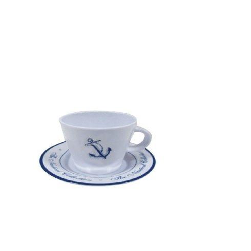 Kávéscsésze aljjal horgonyminta 6,4 cm EVA