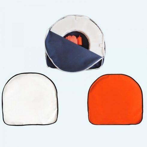 Mentőpatkó tartó zipzáras narancs EVA