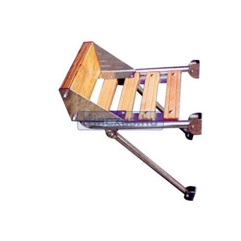 Platform motortartóval inox-teak EVA