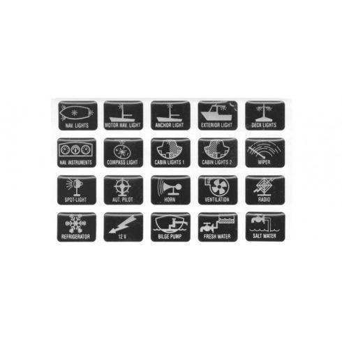 Matrica kapcsolótáblára 20 db/szett GFN