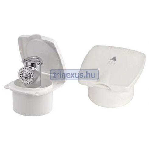 Zuhanytartó doboz acél zuhanyfejjel 2,5 m EVA