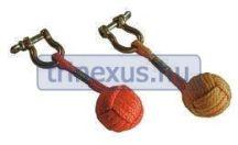 Kulcstartó seklivel kötélgombolyaggal