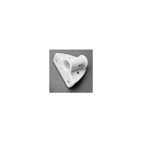Evezővilla talp műag fehér oldalra 19mm LIN