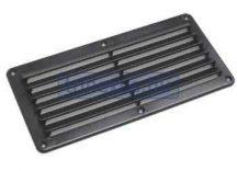 Szellőzőlemez műag fekete 260x125 mm LIN